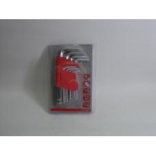 Набор Г-образных ключей шестигранников 9 предметов 1.5-10 мм