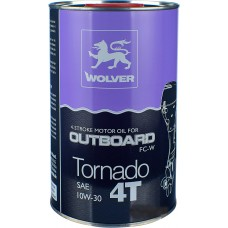масло WOLVER 4T Tornado OUTBOARD 10W30 1л