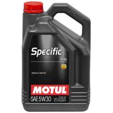 Масло MOTUL для дизельных двигателей Renault, Dacia, Samsung SPECIFIC 0720 5W-30 5л